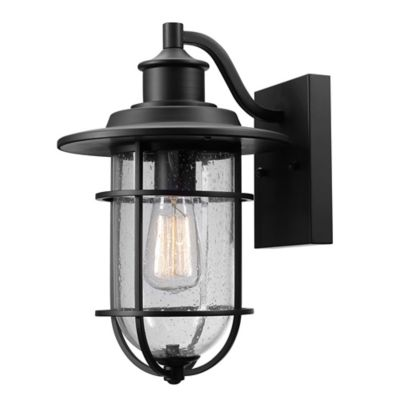 Buy Globe Electric Company Turner Outdoor Wall Sconce in Black from Bed Bath & Beyond