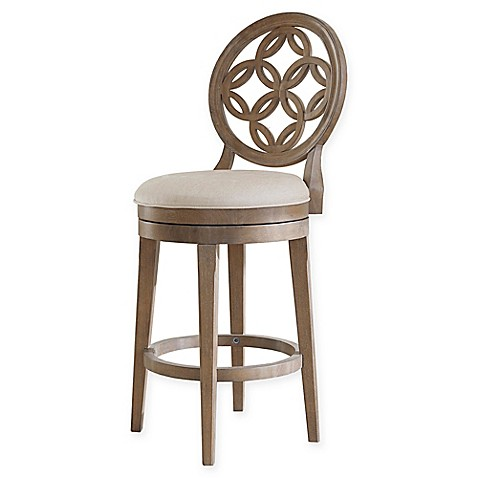 Buy Hillsdale Savona 26 Inch Swivel Counter Stool In Grey