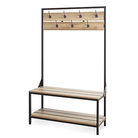 Chatham House Cascade Entryway Bench in Rustic Brown at Bed Bath & Beyond in Cypress, TX | Tuggl