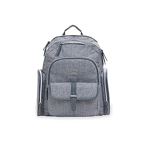 carter 39 s cross hatch sport backpack diaper bag in grey buybuy baby. Black Bedroom Furniture Sets. Home Design Ideas