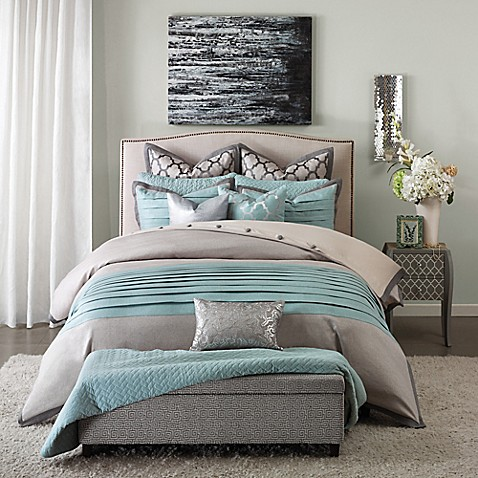 Hampton Hill Tranquility 8 Piece Comforter Set In Blue