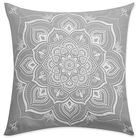 Elephant Throw Pillow Bed Bath And Beyond : Buy Kenya Elephant Printed Square Throw Pillow in Grey from Bed Bath & Beyond