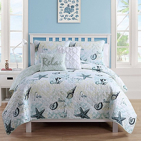 VCNY Home Shore Life Reversible Quilt Set Bed Bath & Beyond