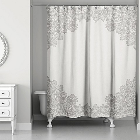 Designs Direct Brown Lace Shower Curtain Bed Bath Beyond