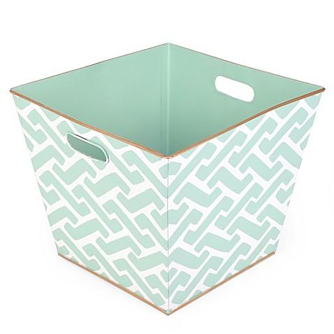 Jayes studio molly storage bin in teal bed bath beyond for Teal bathroom bin