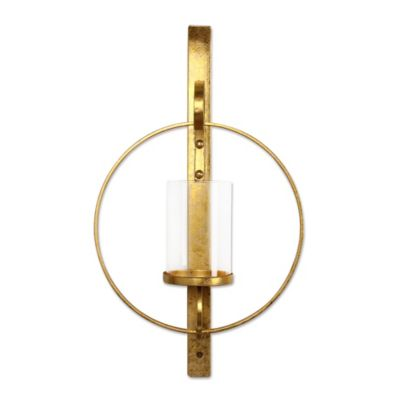 Buy Kate and Laurel Wall Candle Holder Sconce in Gold from Bed Bath & Beyond