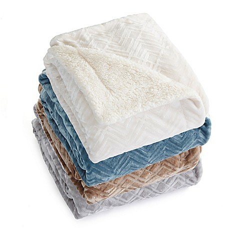 Great Bay Home Ceilo Reversible Throw Blanket at Bed Bath & Beyond in Cypress, TX | Tuggl
