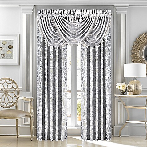 J Queen New York Le Blanc Rod Pocket Window Curtain Panels And Valance Bed Bath Beyond