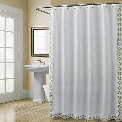 croscill landon 72 inch x 72 inch shower curtain in green bed bath beyond. Black Bedroom Furniture Sets. Home Design Ideas