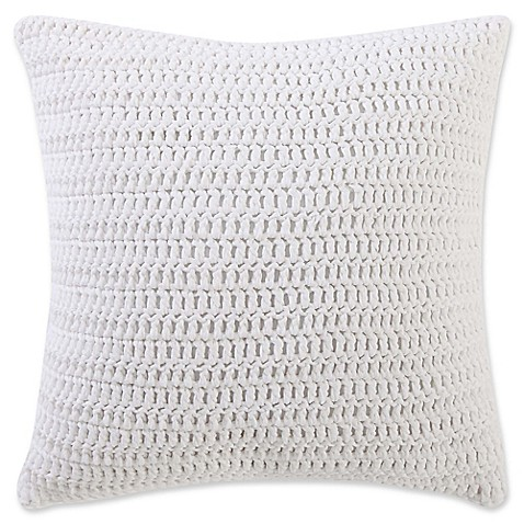 Beach House Brights Knit Square Throw Pillow in Ivory at Bed Bath & Beyond in Cypress, TX | Tuggl