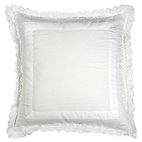 Wamsutta® Vintage Gauze Double Ruffle Square Throw Pillow in Winter White at Bed Bath & Beyond in Cypress, TX | Tuggl