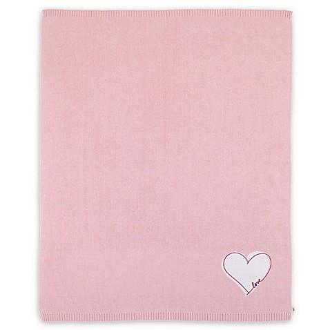 Ed Ellen Degeneres Cotton Tail Heart Blanket In Pink Ivory