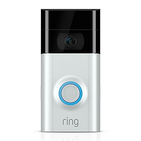 Ring Video Doorbell 2 in Satin Nickel/Venetian at Bed Bath & Beyond in Cypress, TX | Tuggl