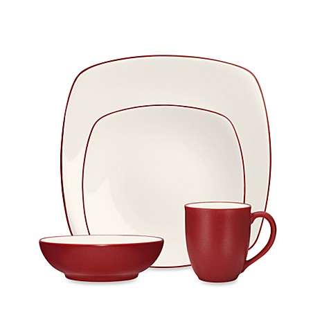 Noritake® Colorwave Square Dinnerware Collection in Raspberry at Bed Bath & Beyond in Cypress, TX | Tuggl