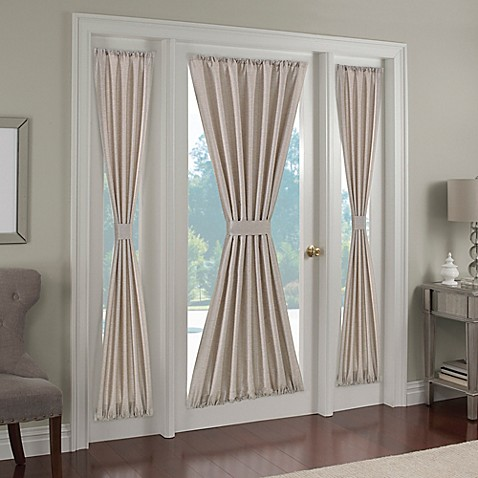 buy paradise 72 inch rod pocket side light door curtain panel in ivory from bed bath beyond. Black Bedroom Furniture Sets. Home Design Ideas