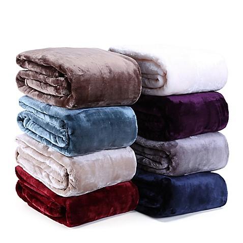 VelvetLoft® Plush Throw Blanket at Bed Bath & Beyond in Cypress, TX | Tuggl