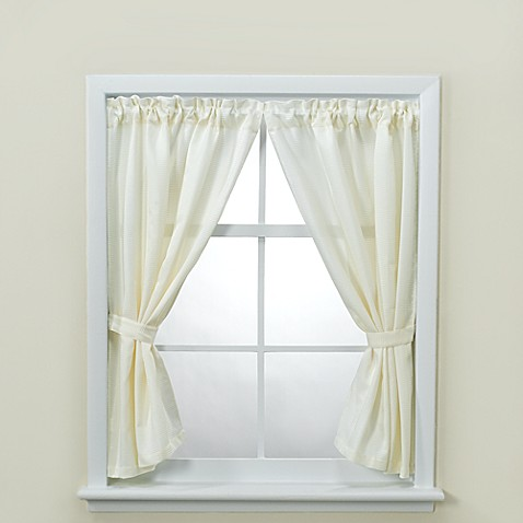 Buy westerly bathroom window curtain pair with tiebacks for Bathroom window curtains