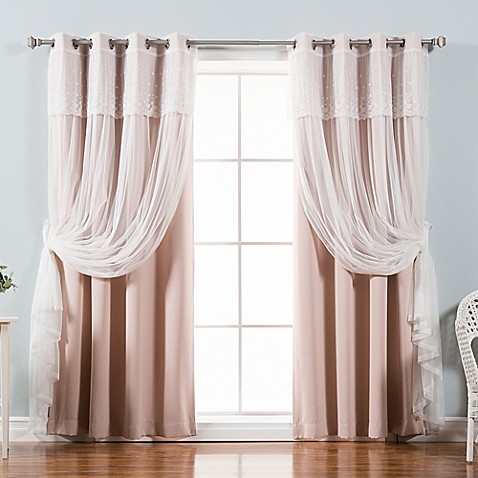Buy decorinnovation mix match dimanche 96 inch blackout for Mix and match curtains colors
