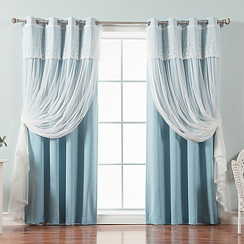 Buy decorinnovation mix match dimanche 84 inch blackout for Mix and match curtains colors