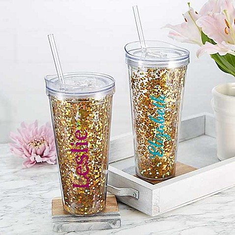 Glitter & Gold 22 oz. Tumbler at Bed Bath & Beyond in Cypress, TX | Tuggl