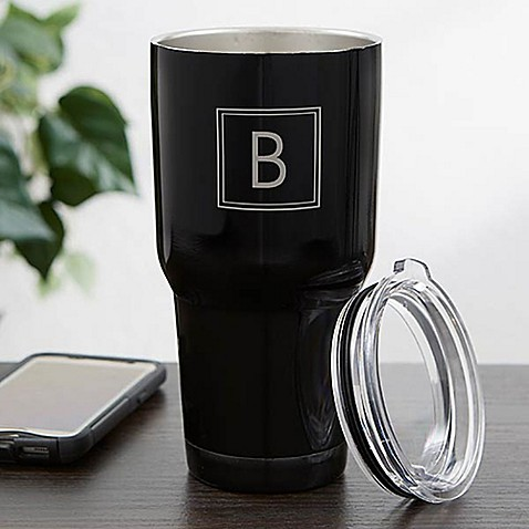 30 oz. Monogram Stainless Steel Travel Tumbler at Bed Bath & Beyond in Cypress, TX | Tuggl