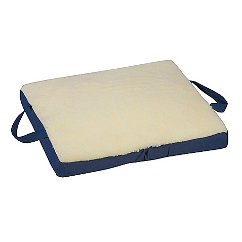Buy dmi 18 inch reversible gel foam seat cushion in cream for Bed bath beyond gel seat cushion