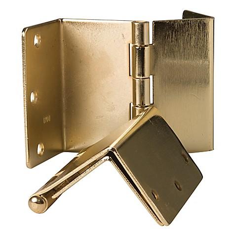 healthsmart expandable door hinges in brass set of 2 bed bath beyond. Black Bedroom Furniture Sets. Home Design Ideas