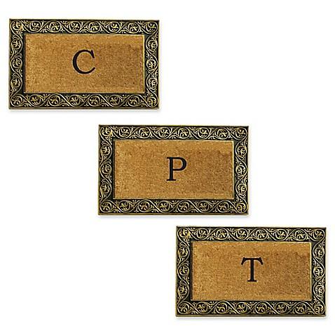 Home & More Prestige Monogram Letter Door Mat in Gold at Bed Bath & Beyond in Cypress, TX   Tuggl