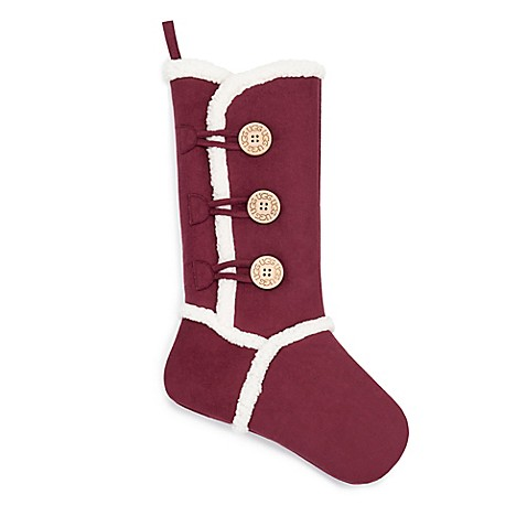 UGG Faux Suede Stocking in Garnet at Bed Bath & Beyond in Cypress, TX | Tuggl