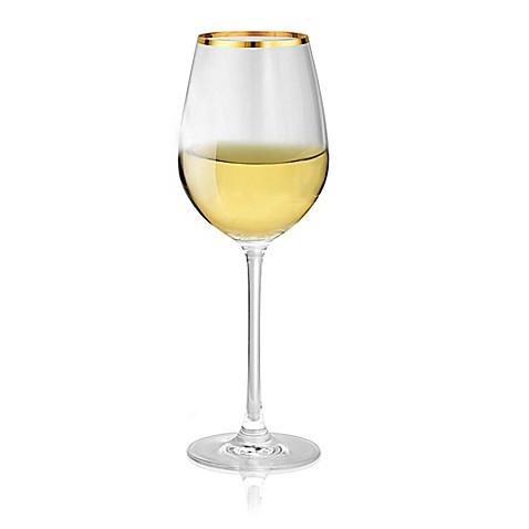 Artland Gold Band White Wine Glasses Set Of 4 Bed