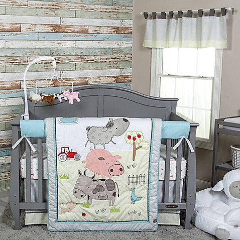 Trend Lab 174 Farm Stack Crib Bedding Collection Bed Bath