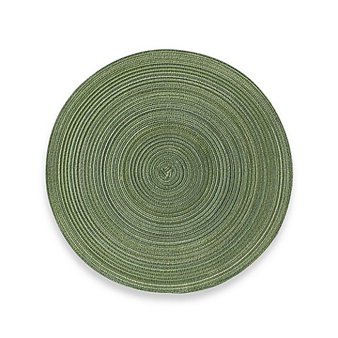 Buy Martini Round Placemat In Green From Bed Bath Amp Beyond