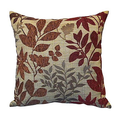 Bristol Square Throw Pillow in Burgundy - Bed Bath & Beyond