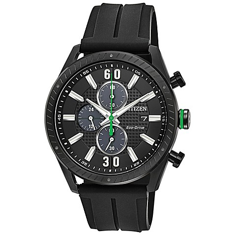 Buy Citizen Drive Mens 425mm Chronograph Watch In Black Ion Plated Stainless Steel With