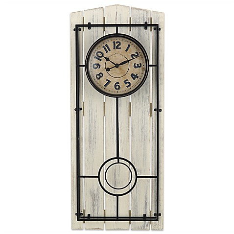 Sterling & Noble Farmhouse Regulator Wall Clock | Tuggl