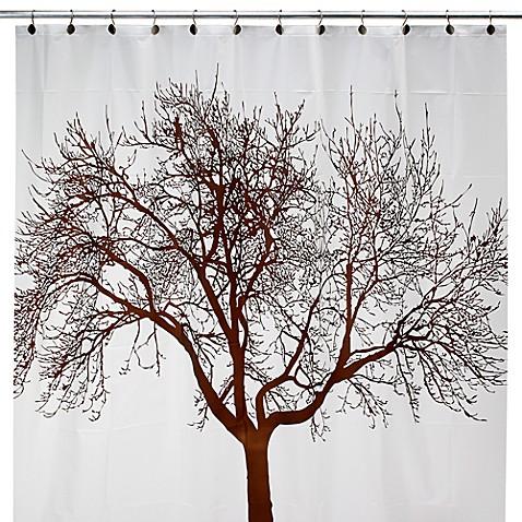 Brown Tree 70 Inch W X 72 Inch L Vinyl Shower Curtain