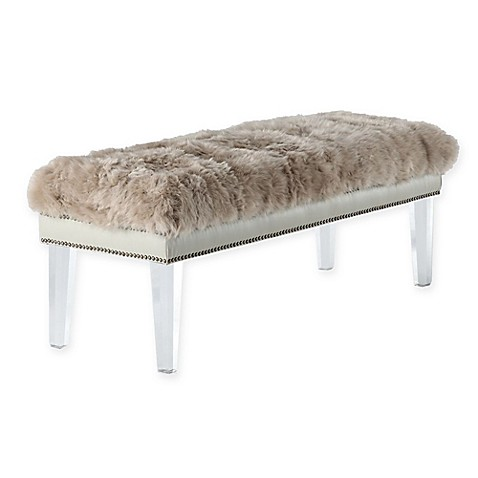 Tov Furniture Luxe Sheepskin Bench Bed Bath Beyond