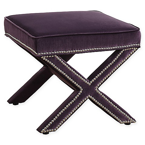TOV Furniture Reese Velvet Ottoman at Bed Bath & Beyond in Cypress, TX | Tuggl