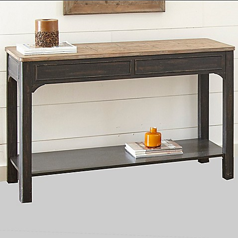 Steve Silver Co. Leighton Sofa Table in Ebony at Bed Bath & Beyond in Cypress, TX | Tuggl