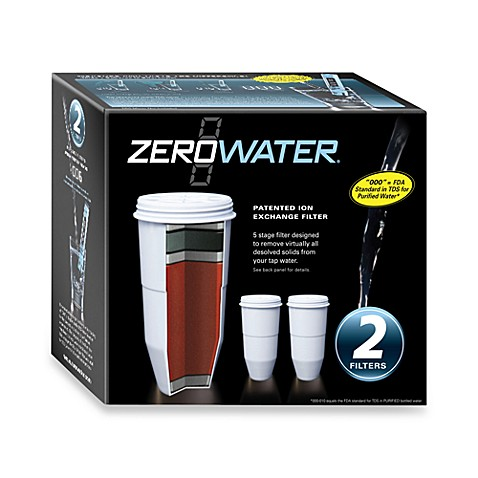 zerowater 2 pack pitcher replacement filter bed bath beyond. Black Bedroom Furniture Sets. Home Design Ideas