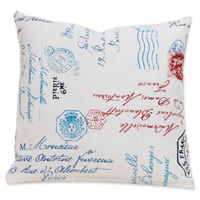 SIScovers Postscript 16-Inch Square Throw Pillow - Bed Bath & Beyond