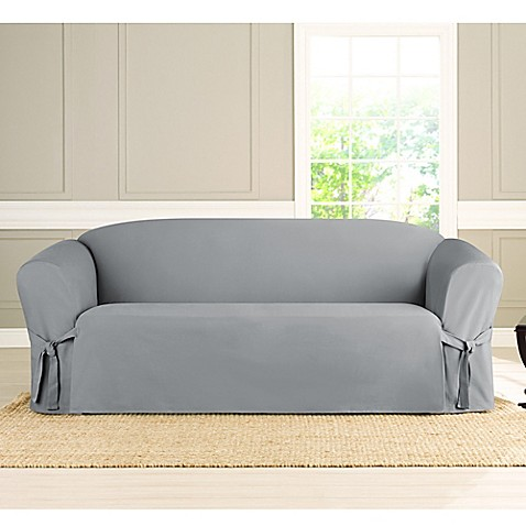 Buy Sure Fit Heavyweight Box Seat Sofa Cover In Pacific