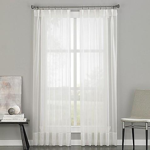 Soho Voile Pinch Pleat Rod Pocket Window Curtain Panel Bed Bath Beyond