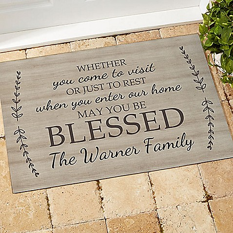 May You Be Blessed Door Mat at Bed Bath & Beyond in Cypress, TX | Tuggl