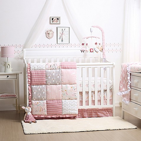 The Peanut Shell 174 Woodland Whimsy 4 Piece Crib Bedding Set