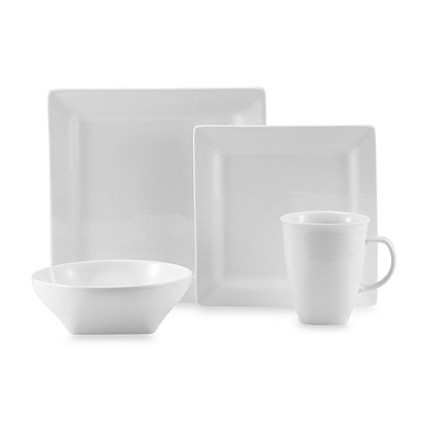 Oneida® Chef's Table™ White Porcelain Soft Square Dinnerware at Bed Bath & Beyond in Cypress, TX | Tuggl