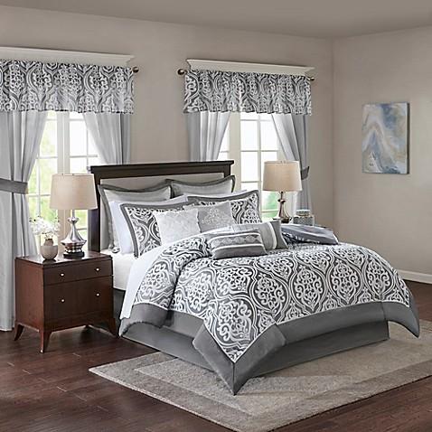 madison park essentials jordan comforter set bed bath beyond. Black Bedroom Furniture Sets. Home Design Ideas