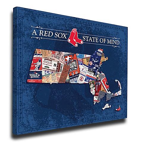 MLB Boston Red Sox Massachusetts State of Mind Canvas Print Wall Art ...