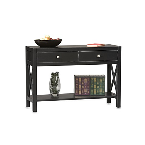 Anna Console Table in Black at Bed Bath & Beyond in Cypress, TX | Tuggl