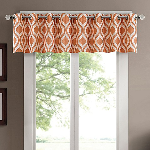 madison park verona chenille jacqaurd window valance in. Black Bedroom Furniture Sets. Home Design Ideas
